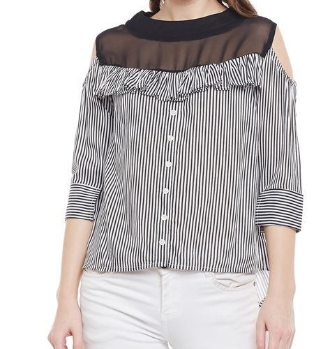 cf08b6fbfc0a5 Ladies Top - Ladies Casual Cold Shoulder Top Manufacturer from New Delhi