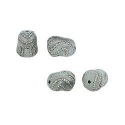 Pave Diamond Matte Bead Findings