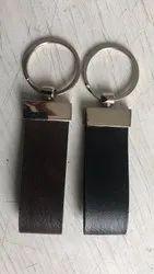 Black Leather Key Ring