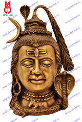 Lord Shiva Head W/Snake , Moon & Ganga Statue