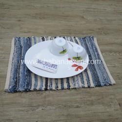 Chindi Denim Placemats Lunch Mats Woven Place mat