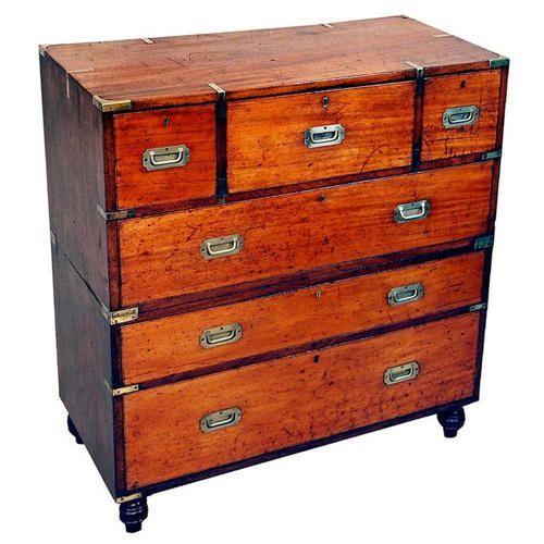 Industrial Wooden Dresser 8 Chest Drawer