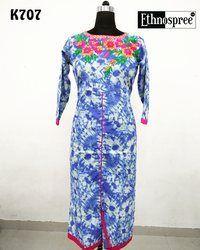Floral Print Cotton Kurti