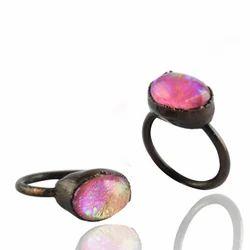 Glass Opal Ring