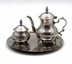 Plate W/ Tea Pot