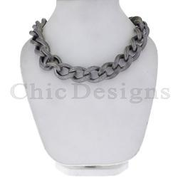 Diamond Three Link Chain Necklace
