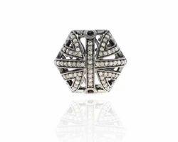Pave Diamond Filigree Beads Findings