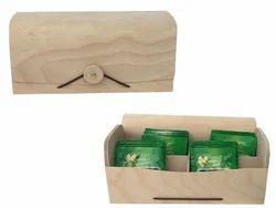 Custom Birch Veneer Wooden Tea Box