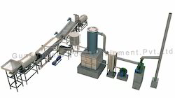 Fully Automatic Pellet Frying Line with Wooden Heat Exchange