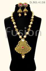 Antique Designer Pearl Kundan Pendant Sets