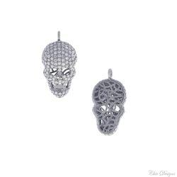925 Silver Diamond Skull Pendant