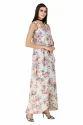 Floral Print Designer Maxi Dress