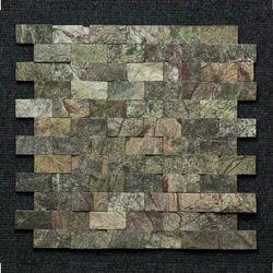Bidasar Green Marble Brick Mosaic
