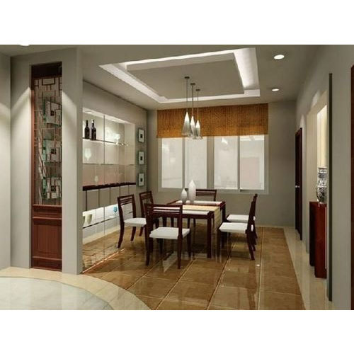 Interior Decoration Service Dining Room Gypsum Design Service