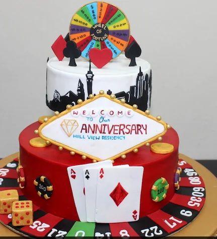 Las Vegas Special 2 Layer Cake