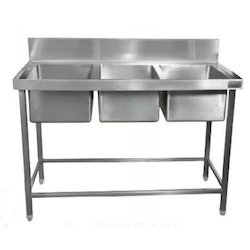 commercial kitchen sink. Three Sink Washing Unit Commercial Kitchen