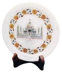 White Marble Taj Mahal Plate