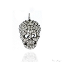 Diamond Pave Skull Charm
