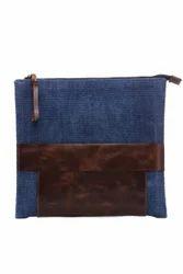 Handmade Rug Leather Clutch