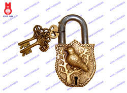 Lock W/Keys Bird Design