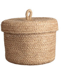 Jute Baskets with Lid