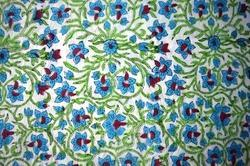 Hand Block Printed Cotton Fabric Floral Printed Fabric Indian Printed