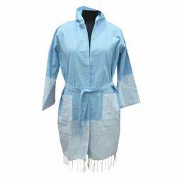 Blue Turkish Towels Cotton Bathrobe