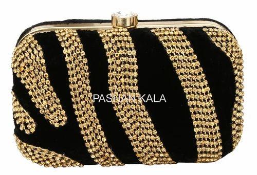 Zari Hand Embroidery Purses Beaded Ladies Carry Bag Wholesale