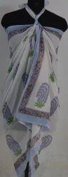 Hand Block Print Cotton Floral Beach Pario