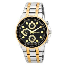 Omax Multifunction Analog Black Dial Men's Watch - SS538