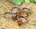Citrine Rough Stone Rings