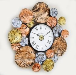 Metal Leaf Designer Wall Clock