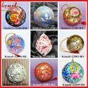 Hand Painted Handmade Indian Christmas Ornament Hanging Ball