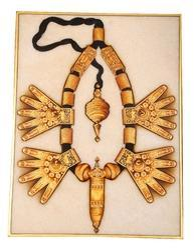 Kundan-Meena Necklace Painting