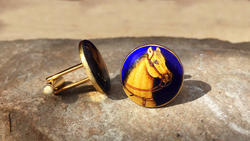 Horse Hand Painted Cufflinks