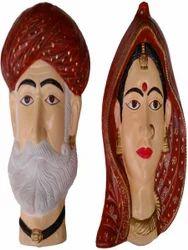 Home Decorative Gujarati Village Couples