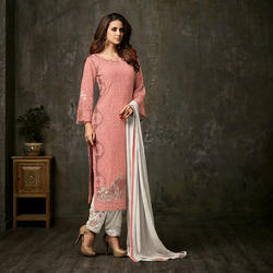 Long Unstitched Dress Material