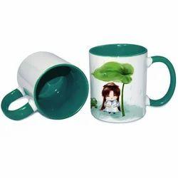 11oz Inner Rim Color Mug-Green