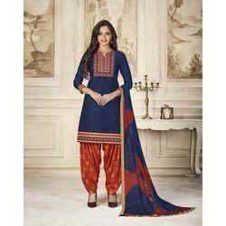 Fancy Cotton Patiala Suit