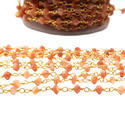 Peach Chocolate Moonstone Gemstone Chains
