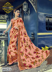Fancy Floral Print Saree