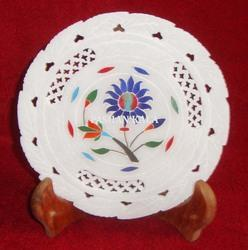 Inlay Marble Stone Decorative Plate