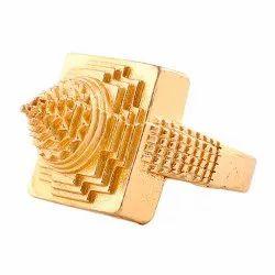 Brass Kachua (Tortoise) Sri Yantra Ring For Unisex
