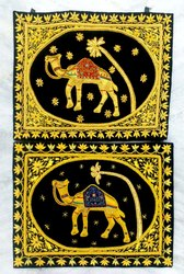 Zardosi Camel Embroidery Hanging