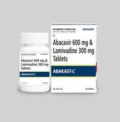 Abakast-L - Abacavir 600 Mg & Lamivudine 300 Mg Tablet