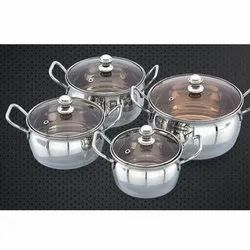 Roselle Cookware Set With Glass Lid
