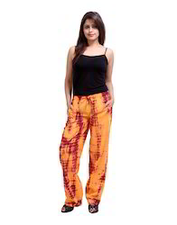 Tie Dye Abstract Cotton Harem Casual Long Trousers For Girl