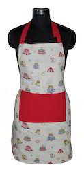 Cake Print Cotton Apron