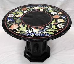 Black Marble Inlaid Coffee Table Top