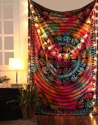 Multicolor Mandala Tie Dye Floral Printed Wall Tapestries